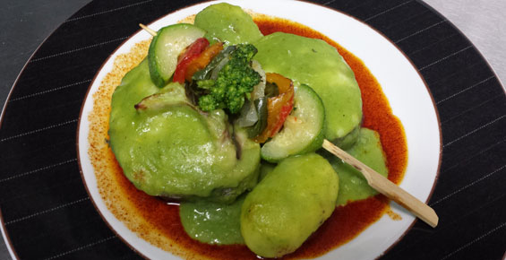 Merluza en salsa de pimiento verde