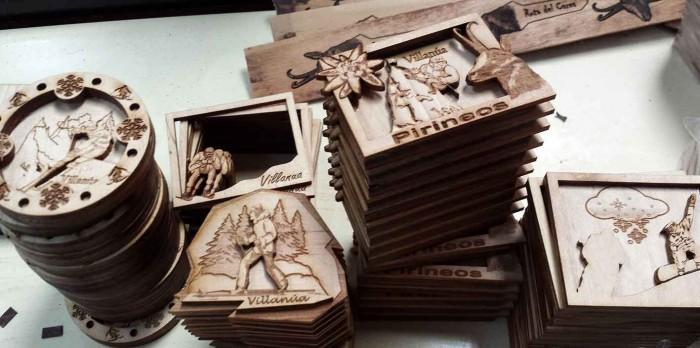 imanes 3D madera