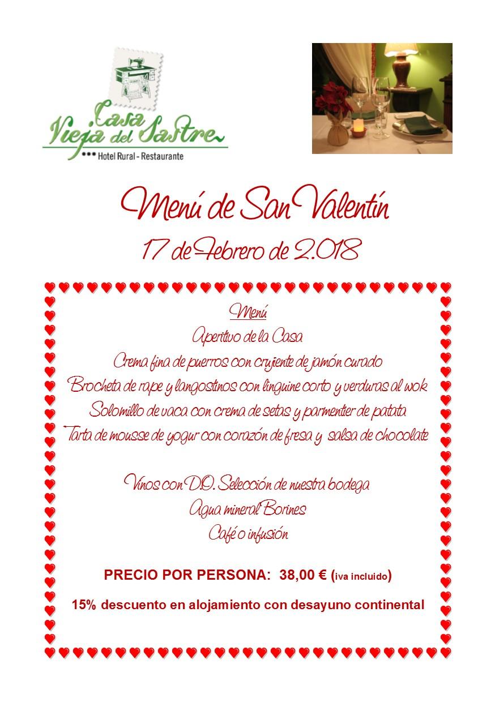 menu san valentin 2.018