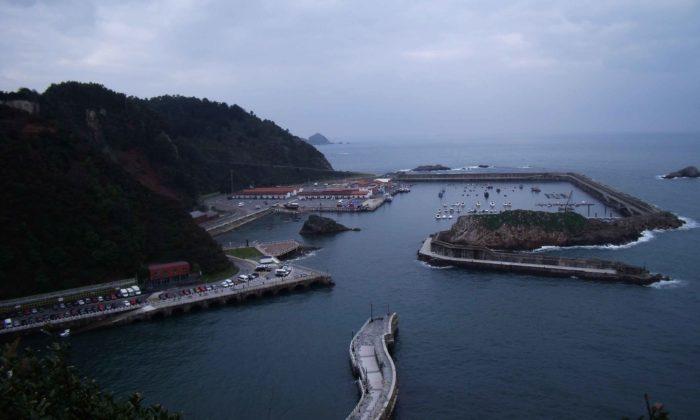 vista del puerto de Cudillero desde el mirador de la Garita