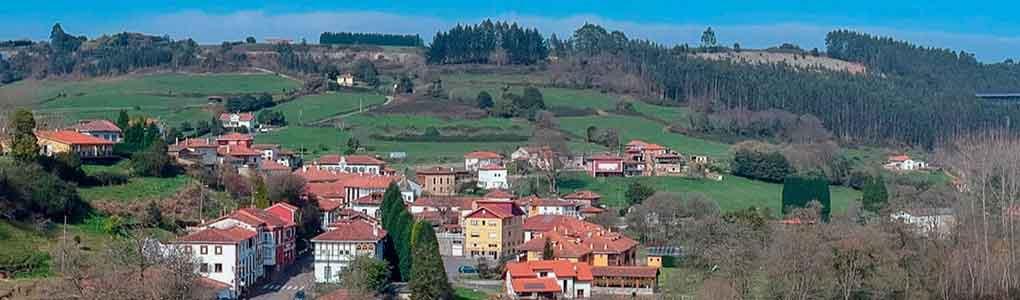 vista aérea del pueblo de Soto de Luiña